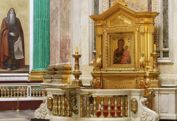 Чтимый список Тихвинской иконы Божией Матери в Исаакиевском соборе