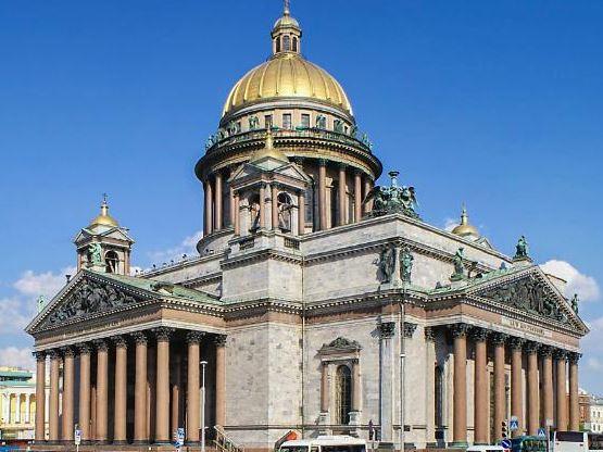 Портики Исаакиевского собора в Санкт-Петербурге