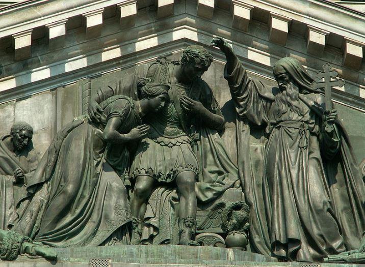 Скульптуры Исаакиевского собора в Санкт-Петербурге